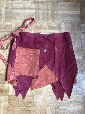 Wraparound Skirt carmine-russet cotton