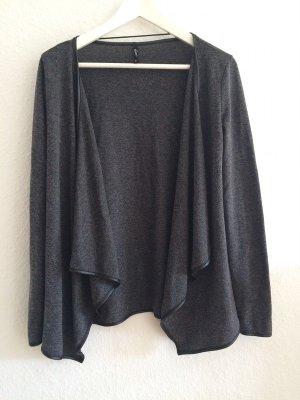 Forever 21 Veste chemise gris anthracite-noir polyester