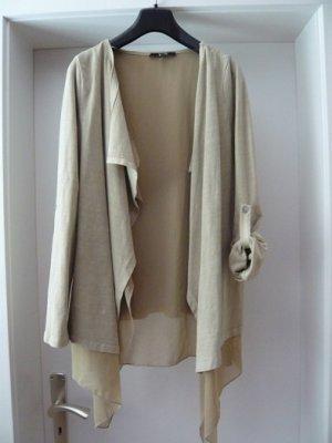 Zippel-Cardigan, Marke: yest, Gr. S, Farbe: sand, ohne Verschluß, getragen