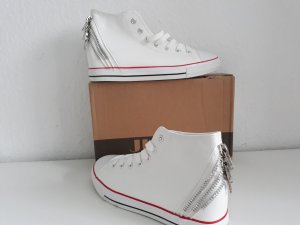 Jumex High Top Sneaker white-silver-colored