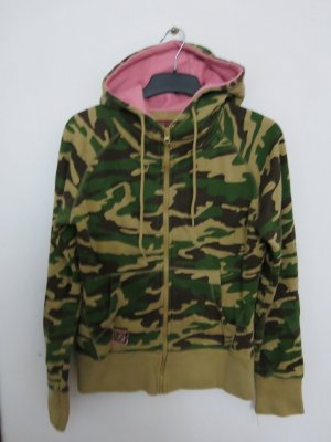 Blend Sweat Jacket olive green-pink
