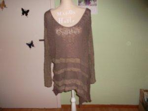 Camisa tipo túnica marrón