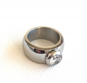 Ring silver-colored stainless steel