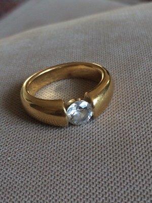 Zirkonia Ring vergoldet
