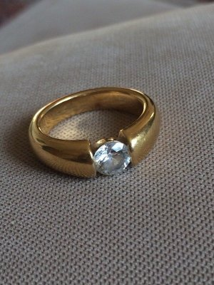 Gold Ring white-gold-colored