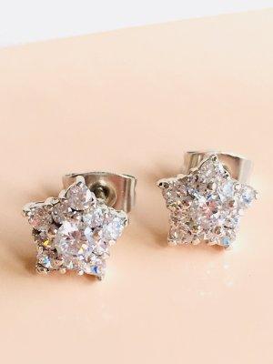 Zilveren oorbellen zilver-wit Zilver