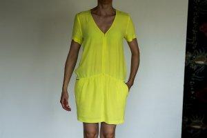 Ba&sh Cocktail Dress yellow viscose