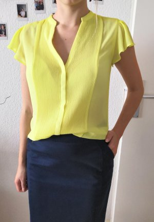H&M Conscious Collection Silk Blouse yellow