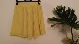 H&M Pleated Skirt yellow polyester