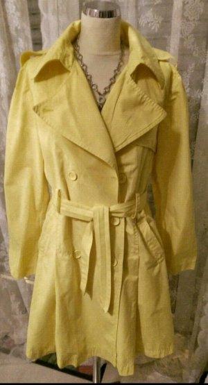 Zitronengelber Trenchcoat Gr. 42 von Sienna