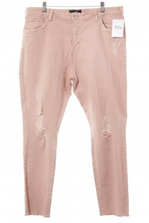 Zizzi High Waist Jeans rose-gold-coloured weave pattern casual look