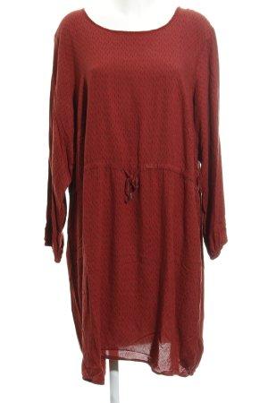 Zizzi Jerseykleid dunkelrot-schwarz Allover-Druck Casual-Look