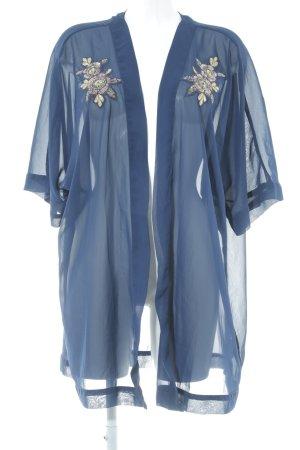 Zizzi Chemisier kimono bleu foncé style décontracté