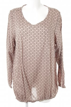 Zizzi Langarm-Bluse abstraktes Muster Casual-Look