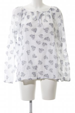 Zizzi Oversized Blouse white-black allover print casual look