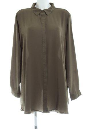 Zizzi Oversized Bluse khaki Business-Look