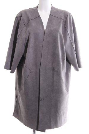 Zizzi Oversized Mantel hellgrau Casual-Look