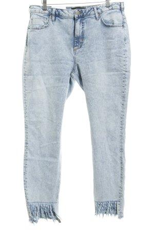 Zizzi Slim Jeans himmelblau-stahlblau Washed-Optik