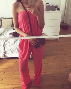 Zoa New York Bandeau Overall Jumpsuit Pink Ibiza Hippie