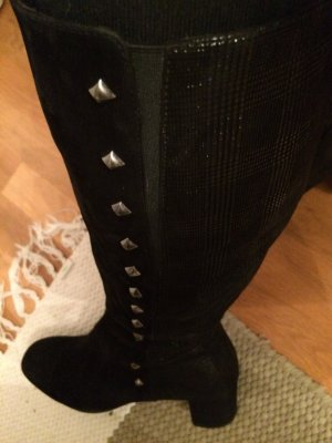 Stretch Boots black leather