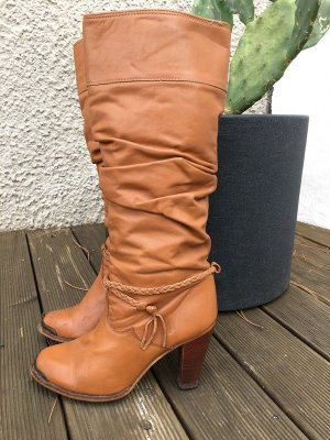 Boots western multicolore cuir
