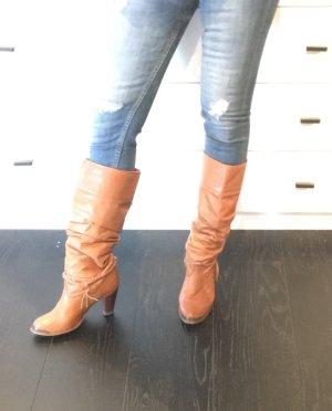 Zodiac USA Vintage Cowboy Boots Stiefel Cognac braun 38 Leder Western 70s 80s
