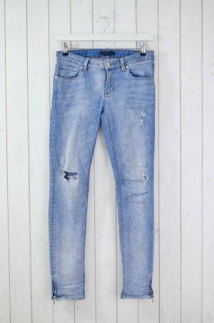 ZOE KARSSEN Damen Jeans Denim Mod. Zoe Ankle/ The End Used Hellblau Gr.28