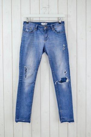 ZOE KARSSEN Damen Jeans Denim Mod. Zoe Ankle/ The End Used Mittelblau Gr.28