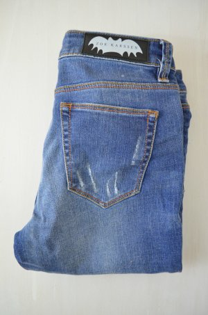 ZOE KARSSEN Damen Jeans Mod. Zoe Ankle/ The End Used Mittelblau Gr.25