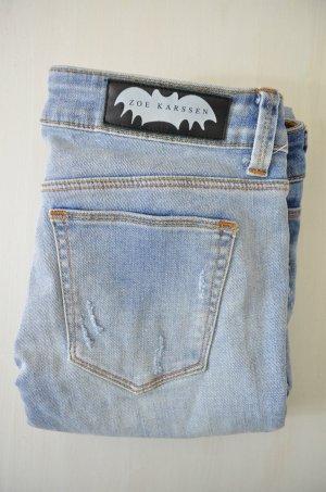 ZOE KARSSEN Damen Jeans Mod. Zoe Zip/ Bleach Blonde Used Hellblau Gr.25