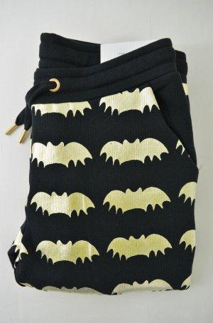 ZOE KARSSEN Damen Jogginghose Jersey PANTS BAT ALL OVER BlackGold Schwarz Gr. S