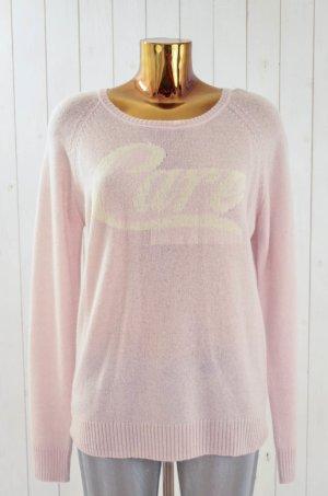 ZOE KARSSEN Damen Pullover Strick Mod. CARE /ORCHID TIN Hellrosa Weiß Gr.L Neu!