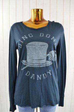 ZOE KARSSEN Damen Shirt Mod.DING DONG Blau Weiß Rundhals Langarm Baumwolle Gr.M