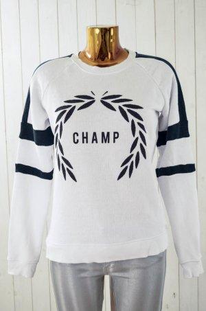 ZOE KARSSEN Damen Sweatshirt Mod.Sweat Champ Weiß Schwarz Baumwolle Gr.S Neu!