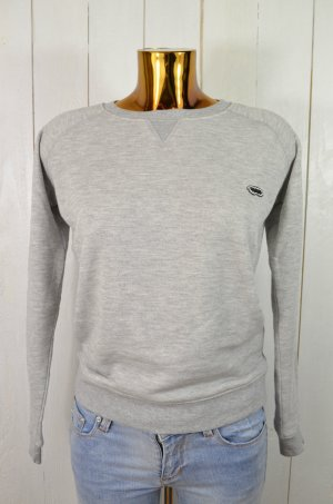 ZOE KARSSEN Damen Sweatshirt Pullover LEATHER SLEEVE SWEATY Sweater Grau Gr.XS