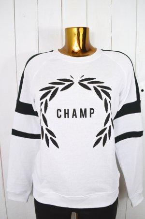 ZOE KARSSEN Damen Sweatshirt Pullover Mod. Sweat Champ Schwarz Weiss Gr.M Neu!
