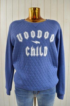 ZOE KARSSEN Damen Sweatshirt Pullover Mod.VOODO CHILD Blau True Navy Gr.M Neu!