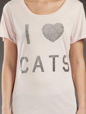 Zoe Karssen I Love Cats Shirt // Katze Katzen Longshirt Nude Rosé Rosa S 36 38