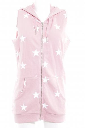 Zoe Karssen Hooded Vest pink star pattern casual look