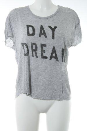 Zoe Karssen Oversized Shirt grau-hellgrau meliert sportlicher Stil