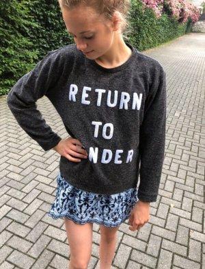 Zoe Karssen Rundhalspullover taupe Schriftzug gestickt Casual-Look