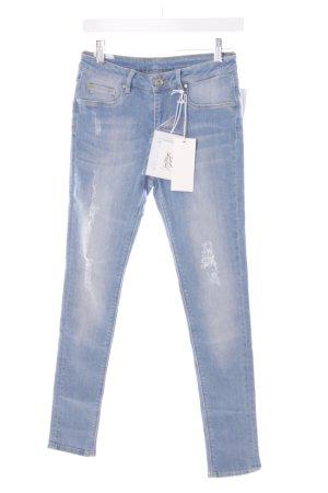 Zoe Karssen Skinny Jeans himmelblau Destroy-Optik