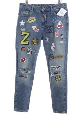Zoe Karssen Slim Jeans blau-stahlblau Casual-Look