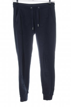 Zoe Karssen Pantalone fitness blu stampa integrale stile casual