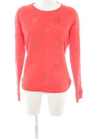 Zoe Karssen Sweatshirt rot Sternenmuster Casual-Look