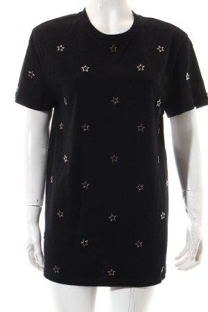 Zoe Karssen T-Shirt schwarz Sternenmuster Casual-Look