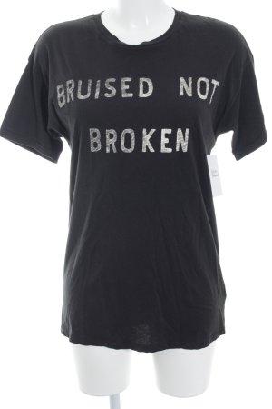 Zoe Karssen T-Shirt schwarz-wollweiß Schriftzug gedruckt minimalistischer Stil