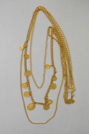 ZOE&MORGAN Kette Halskette 22ct Vergoldet Bronze Anhänger Buddha Om