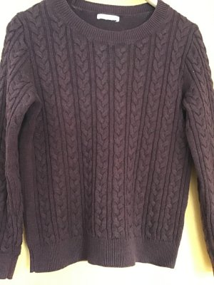 Jersey de cuello redondo lila grisáceo