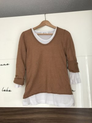 Jag of Zoeppritz Pullover in cashmere cognac-bianco sporco Cachemire